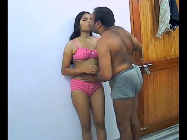Ugly old man and young Indian babe in lanka sexs video